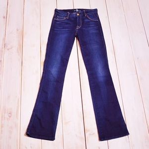 7 For All Mankind Blue Skinny Bootcut Jeans